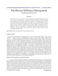 the history of project management pdf download available