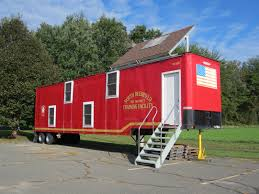 tiny home books container house fire station training center