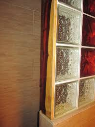 Glass Block Bathroom Designs Decorative Glass Block Shower Bamboo Porcelian Tiles U0026 Cocobolo