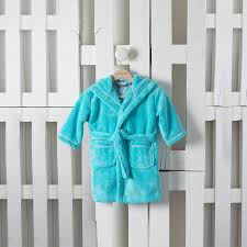 robe de chambre bébé robe de chambre enfant ludo bleu carre blanc