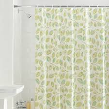 shower curtain leaves interior home design ideas