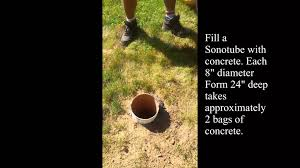 How To Build A Pergola On Concrete by How To Pour Concrete Footings For A Cedar Pergola Video Youtube
