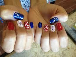 4th of july nails natural nails gelish polish red white