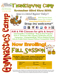 ralphs open on thanksgiving 2015 thanksgiving gymnastics day camp and fall session los