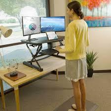 Adjustable Sitting Standing Desk by Flexispot 35 U2033 M2 Adjustable Sit Stand Desk U2013 Notsitting Pro