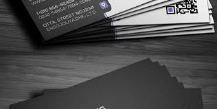 black business card template free psd business card templates