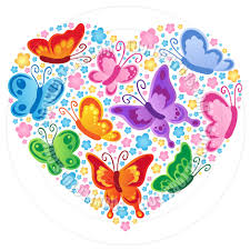 butterfly heart clipart clipartxtras