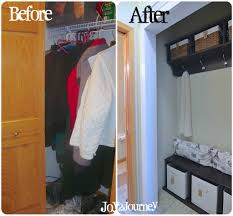 entry closet ideas mudroom laundry room closet before and after seating and
