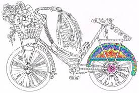 coloring page bicycle printable coloring page for kids and