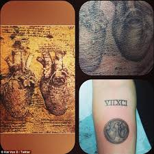 miley cyrus gets graphic new tattoo of da vinci anatomical heart