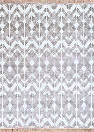 Trendy Area Rugs Modern Trendy Gray White Wavy Zig Zag Pattern Fringe Area Rug