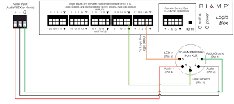 connecting a shure mx400smp to a logic box biamp systems