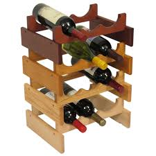 countertop oak wood wine rack wine bottle display stand wine rack
