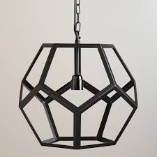 world market pendant light for the entryway to go with dining room light black metal hexagon