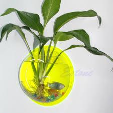 home decoration pot wall hanging mount bubble aquarium bowl fish