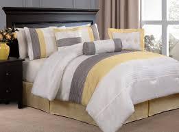 Grey Comforters Queen Bed Linen Stunning Yellow Comforters Queen Grey And Yellow