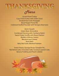 thanksgiving traditional thanksgiving dinner menu