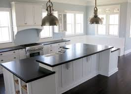 White Kitchen Cabinets With Dark Island White Cabinet And Dark Flooring Nice Home Design