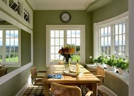 craftsman dining room 3 olive green walls kitchen traditional