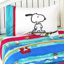Snoopy Bed Set Peanuts By Schulz Brown Peanuts Bed Sheet Set Snoopy Just