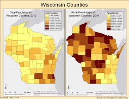Map Of Wisconsin Counties Geography 335 Gis I