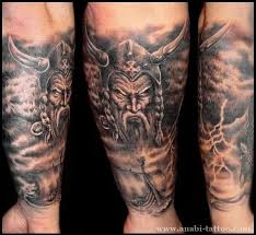 viking warrior skull and boat tattoos for arm in 2017 real photo