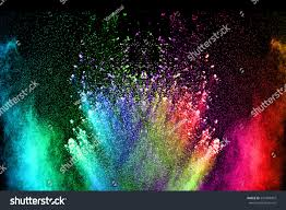 Mauve Color by Abstract Color Powder Explosion On Black Stock Photo 533409907