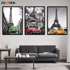 eiffel tower car canvas art promotion shop for promotional eiffel