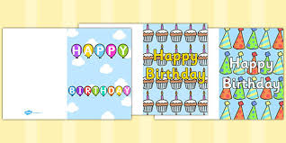 birthday card writing template blank editable card templates