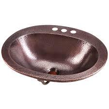 rutherford copper drop in bathroom sink by sinkology