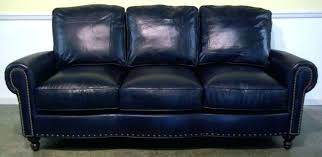 Navy Blue Leather Sectional Sofa Blue Leather Sectional Thedropin Co