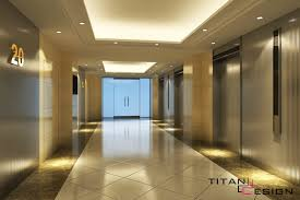 Interior Design Office Lobby Elevator With Awesome Recessed - Lobby interior design ideas