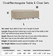 oval depth and table amazon com protective covers weatherproof patio table and highback
