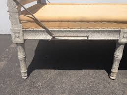 country french provincial daybed wood woven france linen lounge