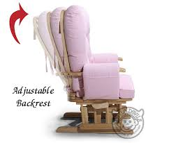 Gliding Rocking Chair Cream Supremo Bambino Fabric Nursing Glider Rocker Maternity