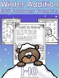 free winter math worksheets elementary math pinterest math