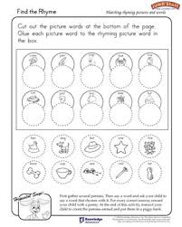 find the rhyme free worksheet for kindergarten jumpstart