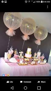 best 25 baby shower decorations ideas on pinterest baby girl balloons wrapped in tulle for party decor