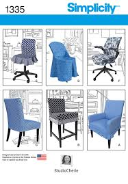 sewing patterns home decor simplicity 1335 chair covers for ikea and realspace chairs