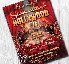 hollywood party invitations hollywood invitation hollywood