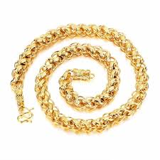2015 men s jewelry 8mm 60cm new arrival 8mm 12mm wide fashion jewelry gold color link chain necklace