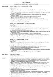 sample resume international business international product manager resume samples velvet jobs