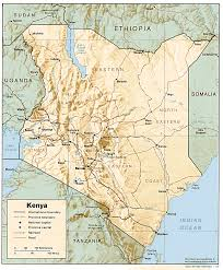 geographical map of kenya free kenya maps