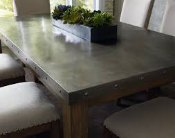 amazing dining table with stainless steel top design ideas modern