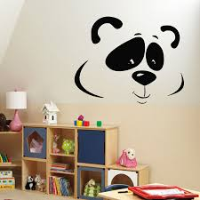 popular wall decals panda buy cheap wall decals panda lots from wall decals vinyl decal sticker murals kids decor animals bear panda head china mainland