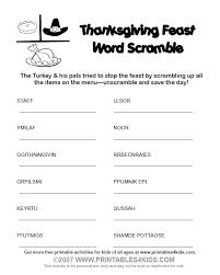 crossword witches day thanksgiving word scramble printables for