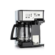 Coffee maker with carafe and single serve