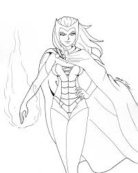 witches colouring pages scarlet witch colouring pages witches