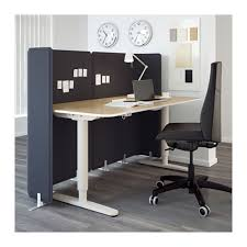 Ikea Reception Desk Bekant Reception Desk Sit Stand Black Brown Black 160x80 120 Cm
