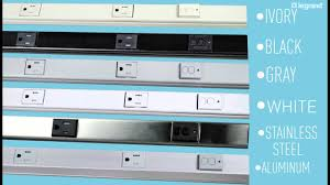 Electrical Outlet Strips Under The Cabinet Wiremold Gfci Plugmold Multioutlet System Youtube